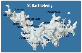 Map of St Barts Regions